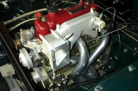 HP Hi-Flow Headers for Supercharged & Race MG B engines Image copyright (c) 2011.