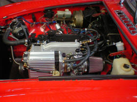 HP Supercharger Kit fitted to MG B Roadster Image copyright (c) 2011.