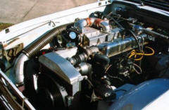 HP Supercharger Kit on Triumph TR4 Image copyright (c) 2011.