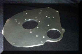 HP Hi-Flow Alloy Engine Plate for MG B engines Image copyright (c) 2011.